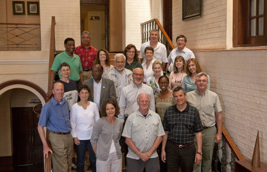 Heifer board members and executive staff pose in Kathmandu, Nepal.